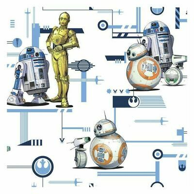 AU133.34 • Buy York DI0948 Star Wars: The Rise Of Skywalker, Droids Unpasted Blue Wallpaper