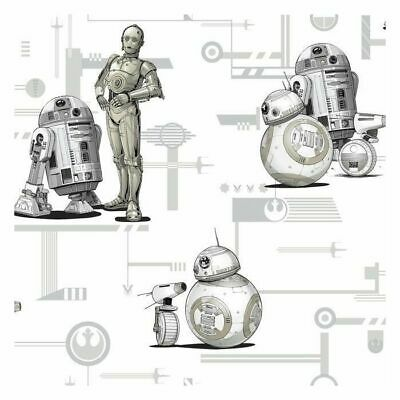 AU133.34 • Buy York DI0947 Star Wars: The Rise Of Skywalker, Droids Unpasted Neutral Wallpaper