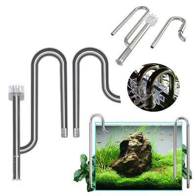 AU35.98 • Buy Lily Pipe Stainless Steel Inflow Outflow Filter For Aquarium Planted Fish Tanks