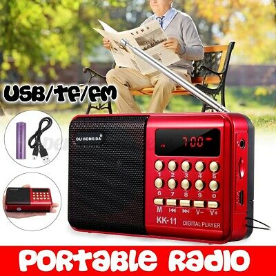 £8.79 • Buy Digital Portable Pocket Radio Mini AM FM Speaker MP3 Music Player Rechargeable