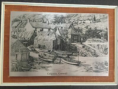 £5 • Buy Wendron Forge Stainless Steel Etching Picture Cadgwith Cove Cornwall, 43x33cm