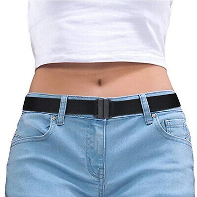 £5.09 • Buy Buckle-free Elastic Womens Comfortable Invisible Belt For Jeans No Bulge Hassle