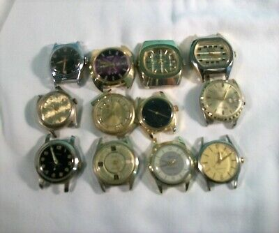 $ CDN30.24 • Buy Lot Of 12 Vintage Wind-Up Men's Wristwatches For Parts Or Repair.