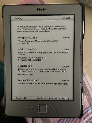 £10.70 • Buy Amazon Kindle 4th Generation, Wi-Fi, 6 Inch Ebook Reader - Graphite