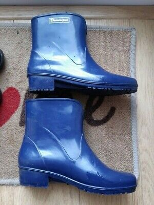 £5.99 • Buy Dominique Heeled Ankle Wellies For Ladies - Blue - UK 5/EU38