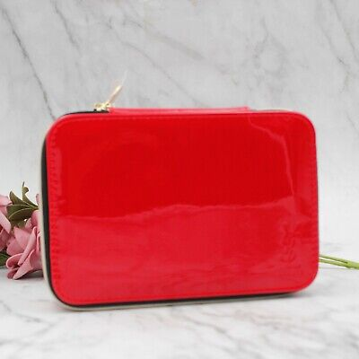 £16.54 • Buy YSL Beauty Red Makeup Cosmetic Case / Bag / Box With Mirror, Brand New!
