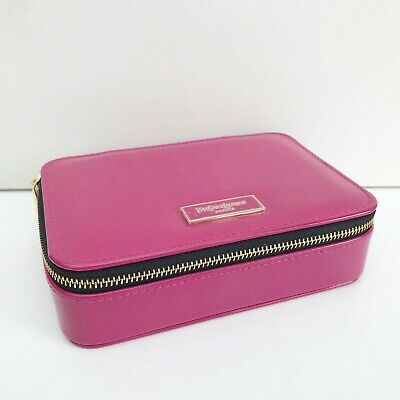 £18.19 • Buy YSL Beauty Fuchsia Faux Patent Leather Makeup Cosmetic Case Bag Box With Mirror
