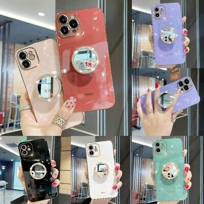 AU12.59 • Buy Bling Glitter Holder Stand Diamond Mirror Case For IPhone 12 11 Pro Max X XR 7/8