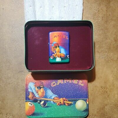 £53.24 • Buy WORKING Vintage Camel Pool Player 1993 Zippo With Original Tin