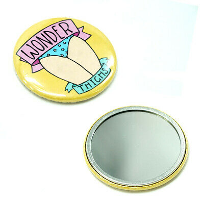 £0.26 • Buy Wonder Thighs Compact Hand Mirror Cosmetics Purse Travel Festival Camping Size
