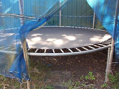 £0.99 • Buy 13ft Trampoline With Ground Poles And Netting