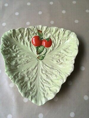 £8.99 • Buy Carltonware Cabbage Leaf Plate With Tomatoes