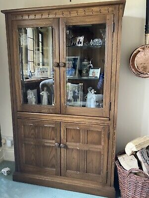 £130 • Buy Ercol Mural Glass Fronted Display Cabinet, Book Case Golden Dawn