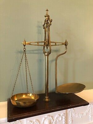 £85 • Buy Antique W & T Avery Ltd Brass Beam Scales - Late 19th C, Vintage Weighing Scales