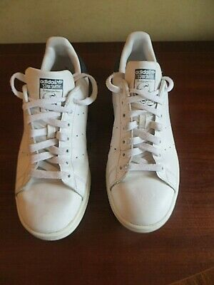 AU9.07 • Buy Adidas Originals Blue Stan Smith White Leather Trainers Size 9 / 43