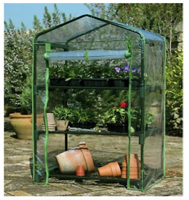 £21.95 • Buy J-Home 3 Shelves Tier Greenhouse Grow Green House Cold Frame With Pvc Cover
