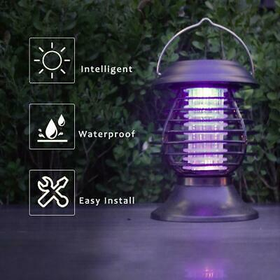 £8.07 • Buy Solar Powered LED Mosquito Fly Bug Insect Zapper Killer Trap Lamp Lights Outdoor
