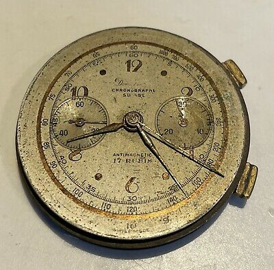 $ CDN1.69 • Buy Vintage Complicated Chronograph  Complete Wristwatch Movement Dial Hands Etc