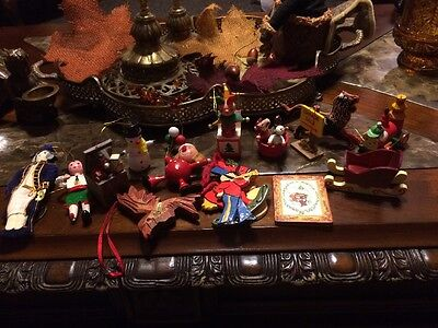 $ CDN12.09 • Buy Lot Of 16 Vintage Christmas Ornaments Some Wooden