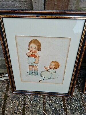 £45 • Buy Trio Of Antique Mabel Lucie Atwell Framed Original Prints