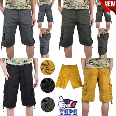 $17.59 • Buy Men Cargo Shorts Fit Twill Camouflage 3/4 Military Shorts Casual Multi-Pocket !