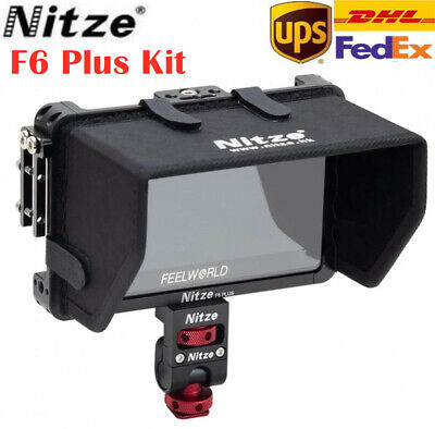 AU106.20 • Buy Nitze Feelworld F6 Plus Monitor Cage HDMI Cable Clamp Sunhood Mount Holder Kit