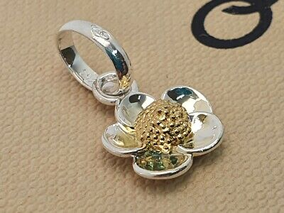 £64.99 • Buy Genuine Links Of London BUTTERCUP Charm Pendant Silver Yellow Gold Flower