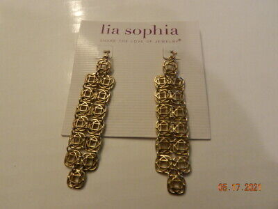 $ CDN18.14 • Buy Lia Sophia Tagine Matte Antique Gold Tone Earrings Dangle
