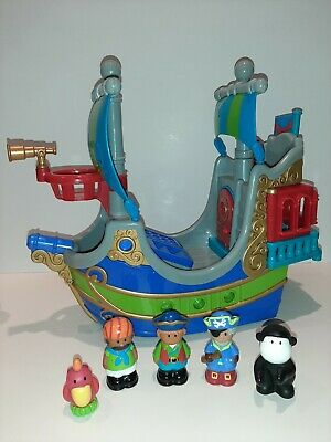 £24.99 • Buy ELC Happyland Pirate Ship, Figures, Monkey & Parrot