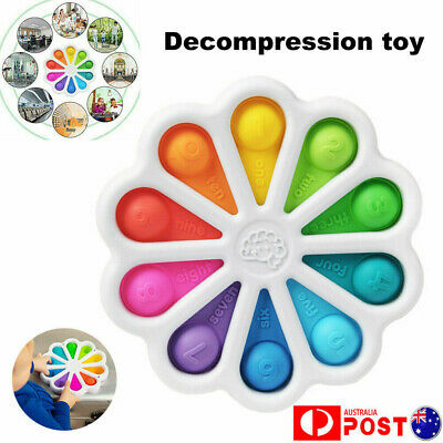 AU12.96 • Buy Fidget Toy Simple Dimple Digits Sensory Stress Relief Kid Early Educational Baby