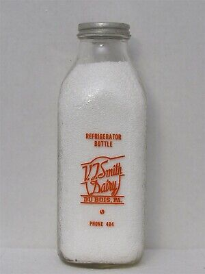 $24.99 • Buy SSPQ Milk Bottle V T Smith Dairy DuBois PA CLEARFIELD COUNTY Refrigerator Bottle