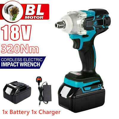 £27.54 • Buy Cordless Impact Wrench 1/2  Brushless Torque Tool Replace W/ Charger + Battery