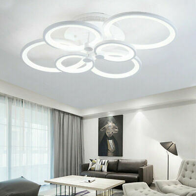 £39.99 • Buy Acrylic Ring Chandelier LED Ceiling Light Fixture Lamp For Living Room 4/6 Way C