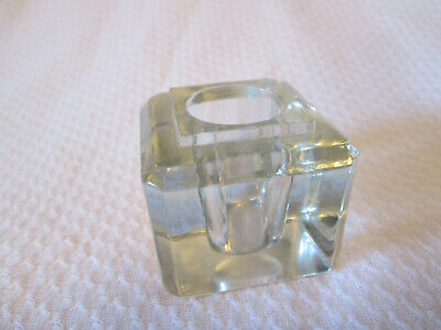 £3.55 • Buy  Clear Glass Square Cube Candle Holder 1-3/4  Square