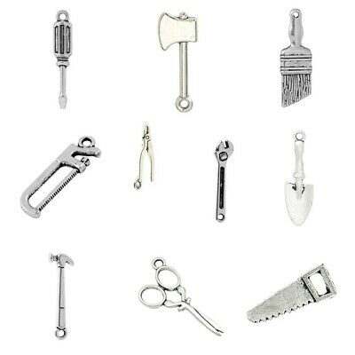£6 • Buy Tool Charm Mix Tibetan Silver Pack Of 40