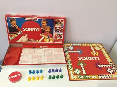 £19.99 • Buy Sorry. Vintage 1985 Waddingtons Classic Board Game. Complete