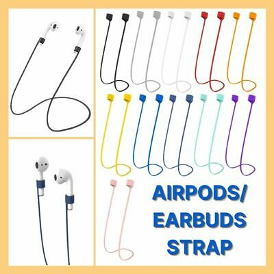 AU3.25 • Buy Airpods Earbuds Anti Lost Silicone Strap String Holder Cable Earphones Headphone