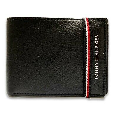 £15.99 • Buy Men's Tommy Hilfiger Premium Leather Wallet Bifold Brown W Gift Box Fathers Day