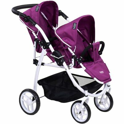 £33.86 • Buy Britax Puuple Duo Twin Dolls Buggy Brand New In Box Great For Your Dolls