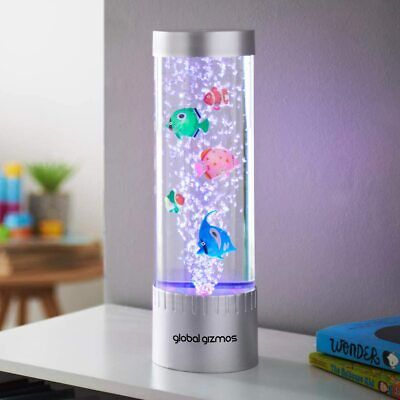 £19.95 • Buy 32cm Colour Changing LED Water Bubble Fish Floor Tube Table Lamp Light Novelty