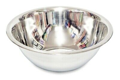 £9.95 • Buy Stainless Steel Deep Mixing Salad Bowl In 10 Different Sizes And Sets (CHEAPEST)