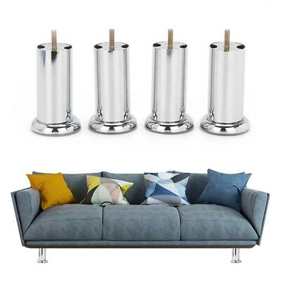 £8.99 • Buy 4x METAL CHROME M8 LEGS FURNITURE FEET SOFA BEDS CHAIRS STOOLS CABINET 120mm