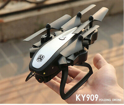 AU73.95 • Buy KY909 Foldable Drone With Dual Camera 4K HD WiFi FPV Optical-Flow RC Qudcopter