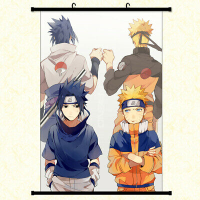 £11.45 • Buy NARUTO And Sasuke Anime Poster With Hooks Framed Hanger 24x36 Inches