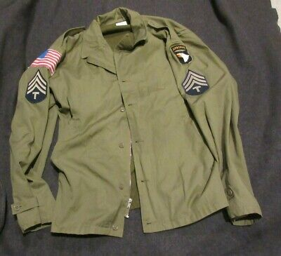 $99.99 • Buy REPRODUCTION US ARMY 101st ABN WW2 M41 FIELD JACKET SIZE 48R AT THE FRONT