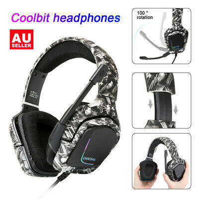 AU22.98 • Buy Onikuma Pro RGB Gaming Headset Noise Canceling Gaming Headphones With Mic Gifts