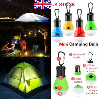 £8.69 • Buy 5X Camping Lights Battery Operated Emergency Tent LED Light Bulb Lamp Lantern