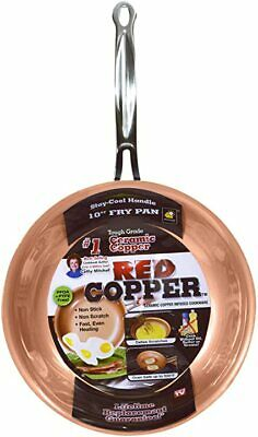 £23.99 • Buy RED COPPER 25cm Tough Grade Ceramic Copper Infused Non-Stick Frying Pan