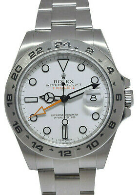 $ CDN16991.80 • Buy Rolex Explorer II Stainless Steel White Dial Oyster Mens 42mm Watch 216570