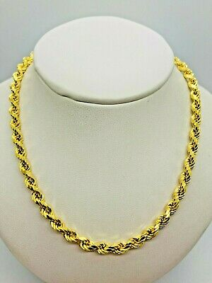 £675 • Buy 9ct Yellow Gold Rope Chain - 5.0mm - 26  **** CHEAPEST ON EBAY ****